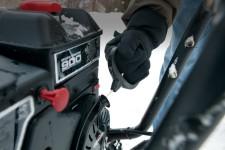 запуск снегоуборщика